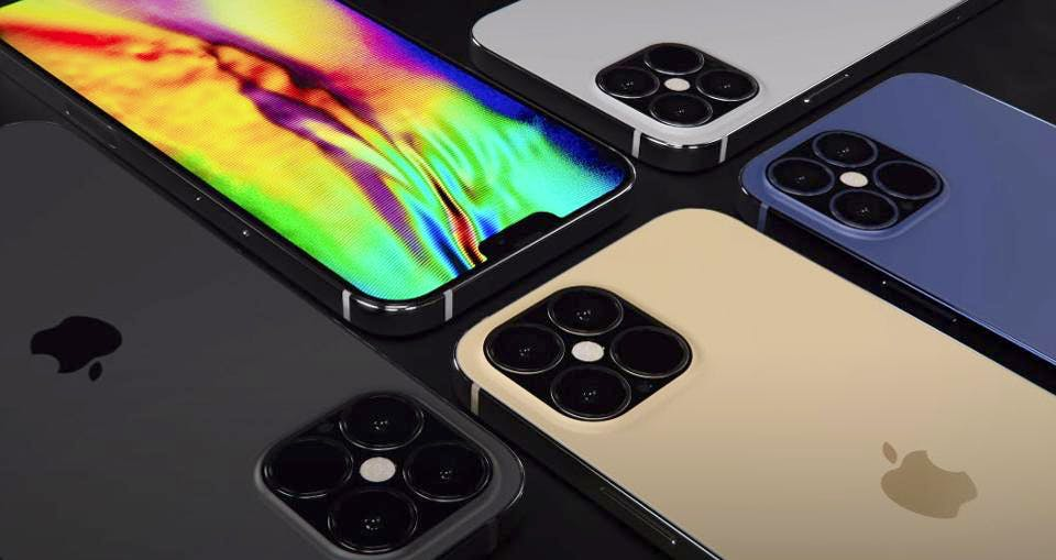 A group of iPhones