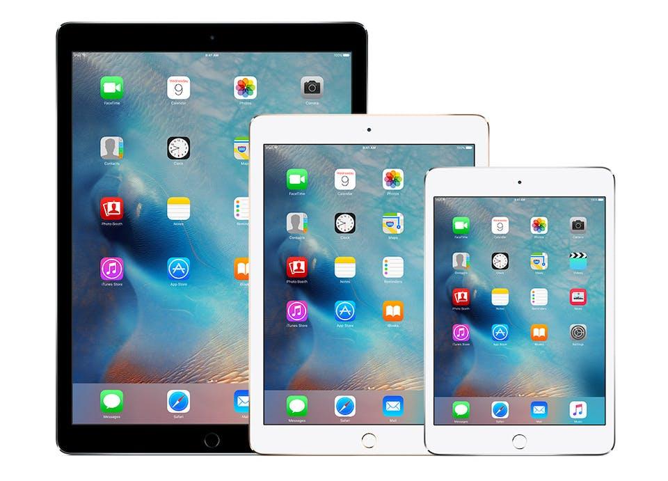 iPad v iPad Mini v iPad Pro