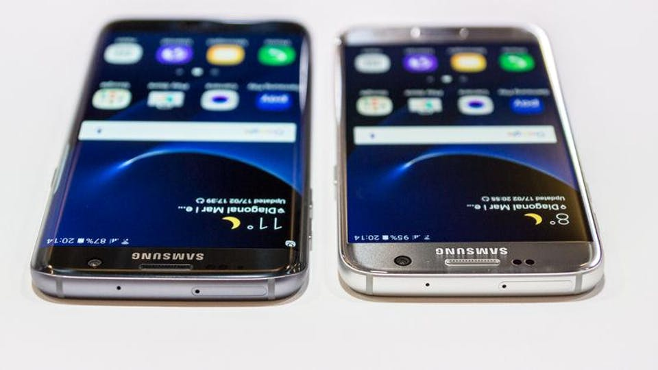 Samsung Galaxy S7 vs. Galaxy S7 Edge